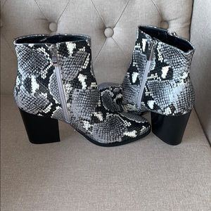 Snake ankle booties